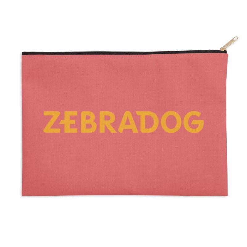 Orange Crush Accessories Zip Pouch by Zebradog Apparel & Accessories