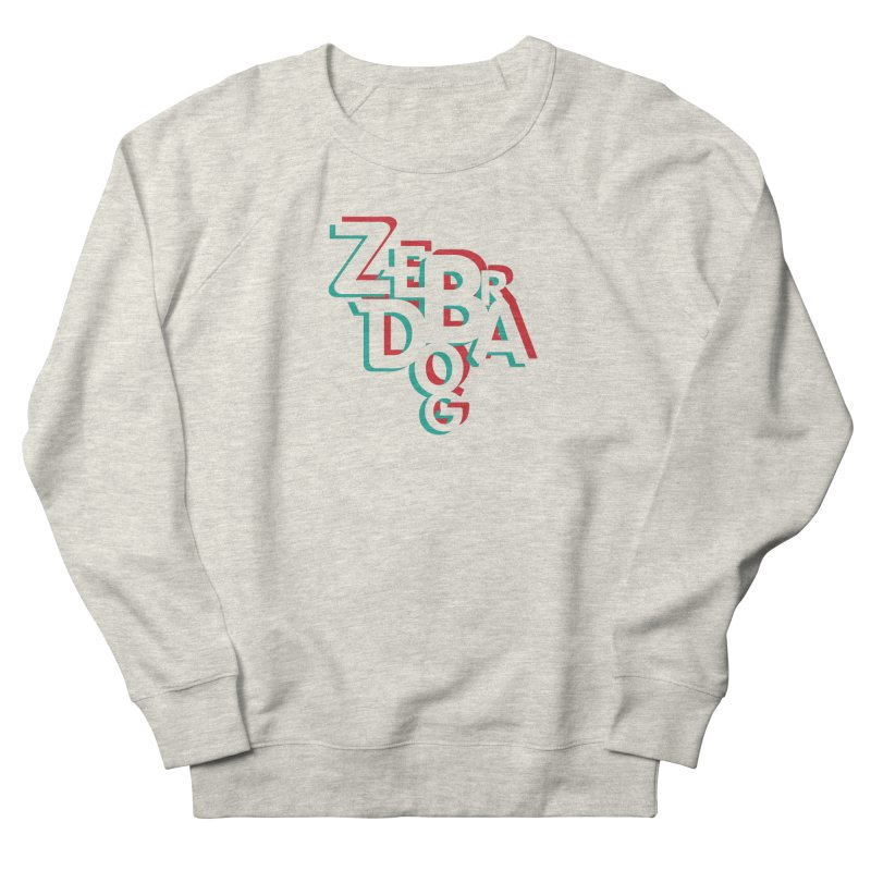 ZD3D Women's French Terry Sweatshirt by Zebradog Apparel & Accessories