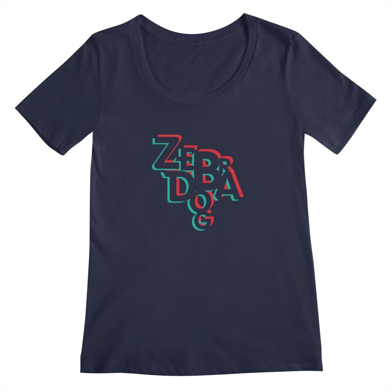 ZD3D Women's Regular Scoop Neck by Zebradog Apparel & Accessories
