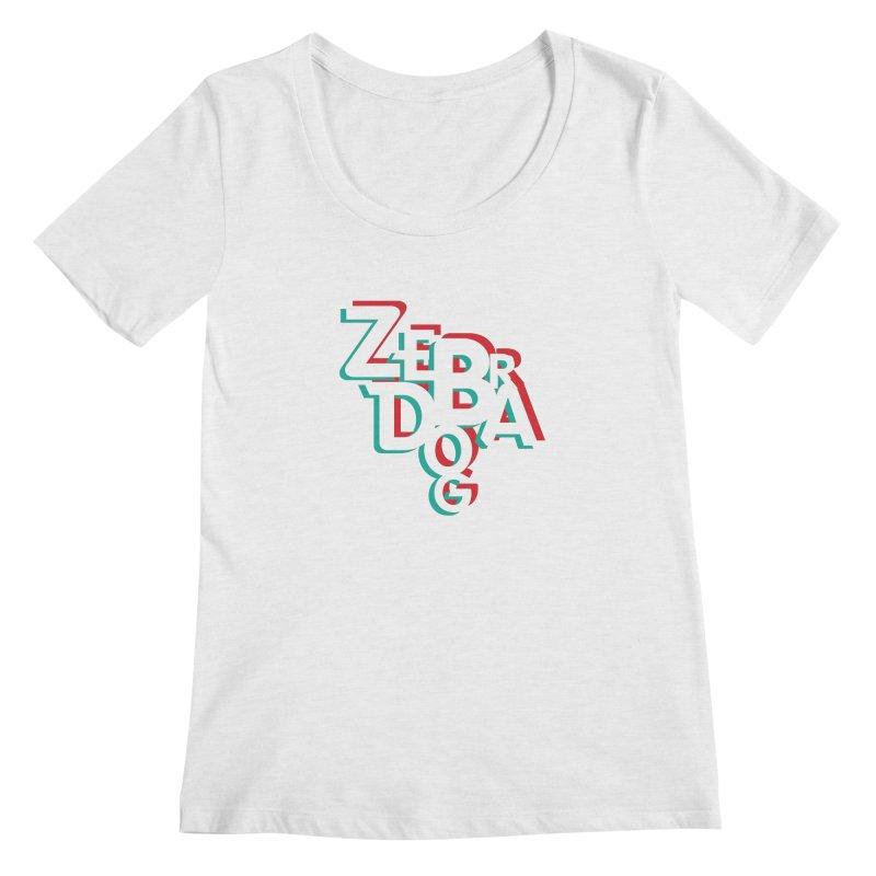 ZD3D Women's Regular Scoop Neck by Zebradog Apparel & Accessories
