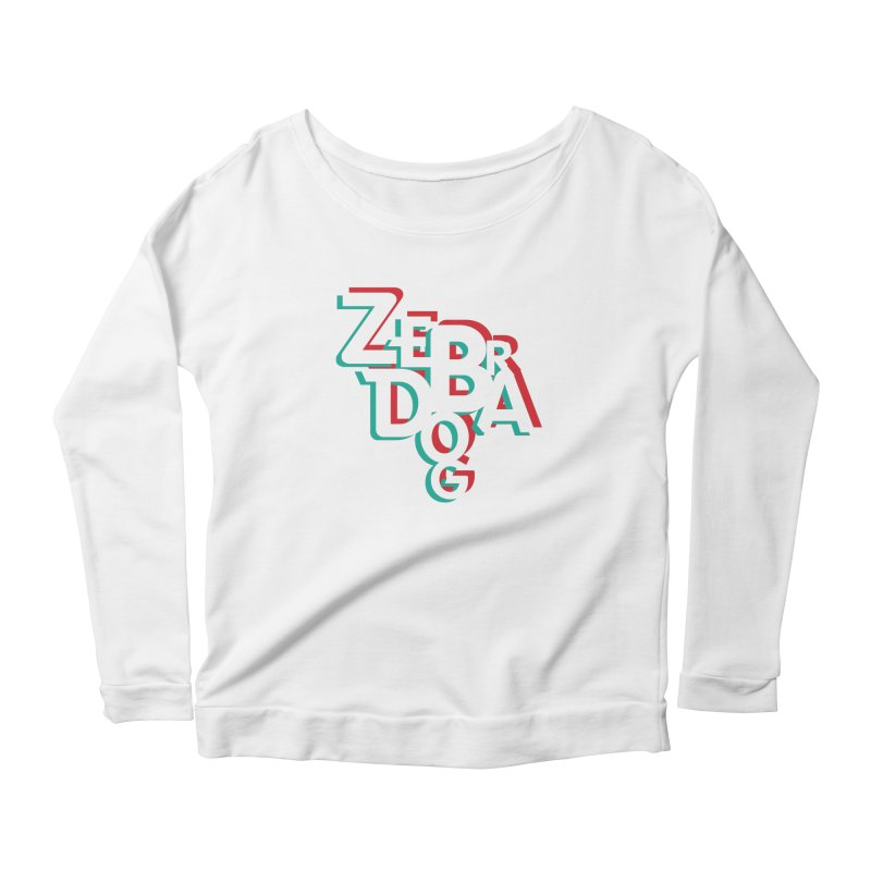 ZD3D Women's Scoop Neck Longsleeve T-Shirt by Zebradog Apparel & Accessories