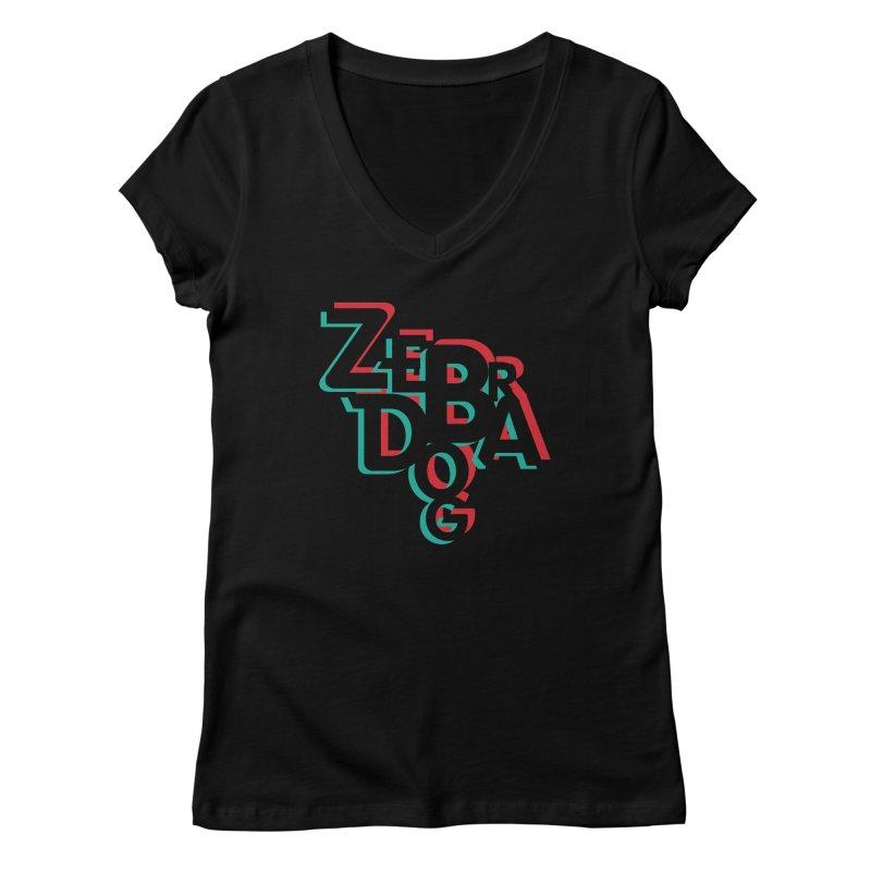 ZD3D Women's V-Neck by Zebradog Apparel & Accessories