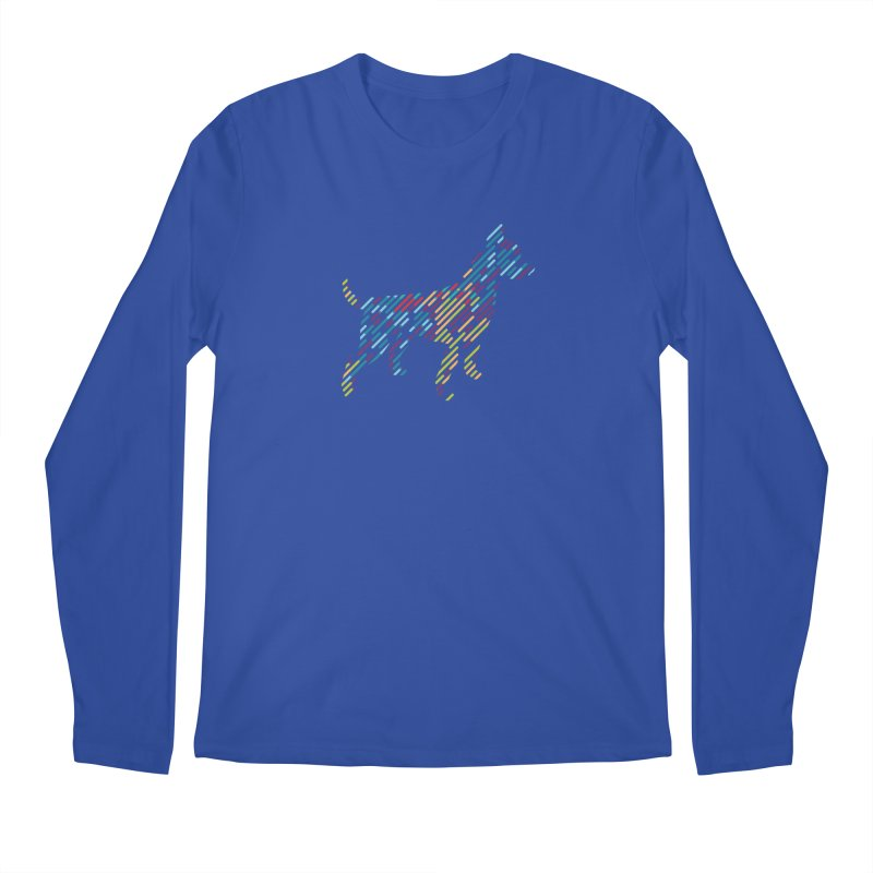 Stripe Dog Men's Regular Longsleeve T-Shirt by Zebradog Apparel & Accessories