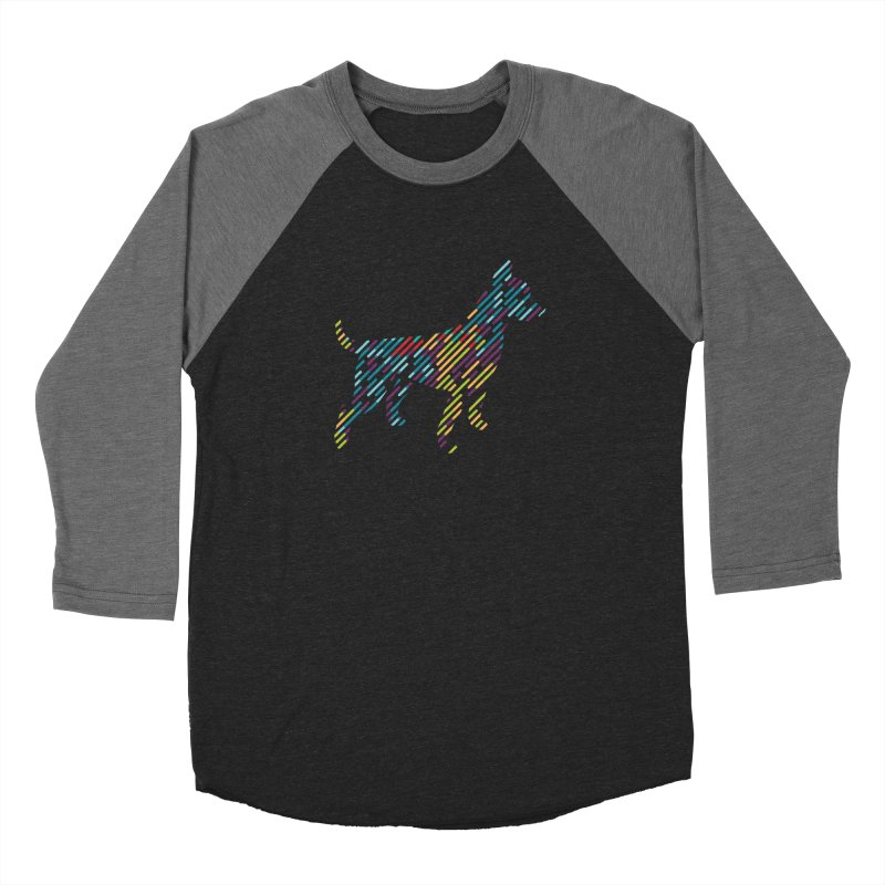 Stripe Dog Men's Baseball Triblend Longsleeve T-Shirt by Zebradog Apparel & Accessories