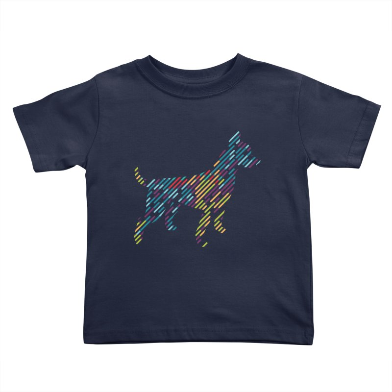 Stripe Dog Kids Toddler T-Shirt by Zebradog Apparel & Accessories
