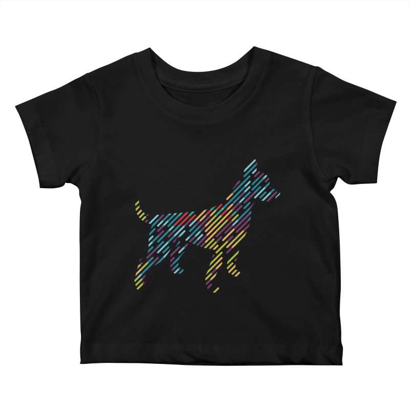 Stripe Dog Kids Baby T-Shirt by Zebradog Apparel & Accessories