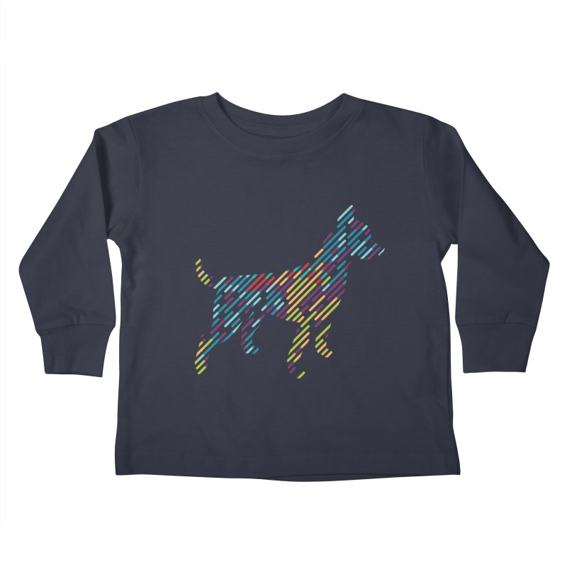 Stripe Dog Kids Toddler Longsleeve T-Shirt by Zebradog Apparel & Accessories