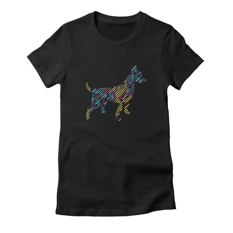 Stripe Dog Women's T-Shirt by Zebradog Apparel & Accessories