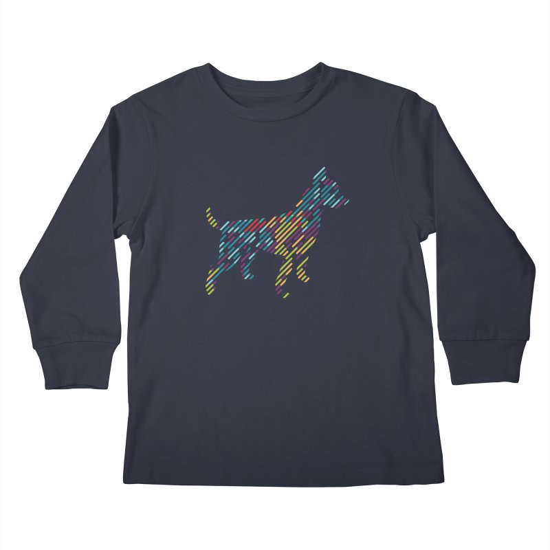 Stripe Dog Kids Longsleeve T-Shirt by Zebradog Apparel & Accessories