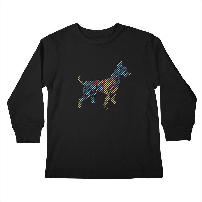 Stripe Dog Kids Longsleeve T-Shirt by Zebradog Apparel & Accessories
