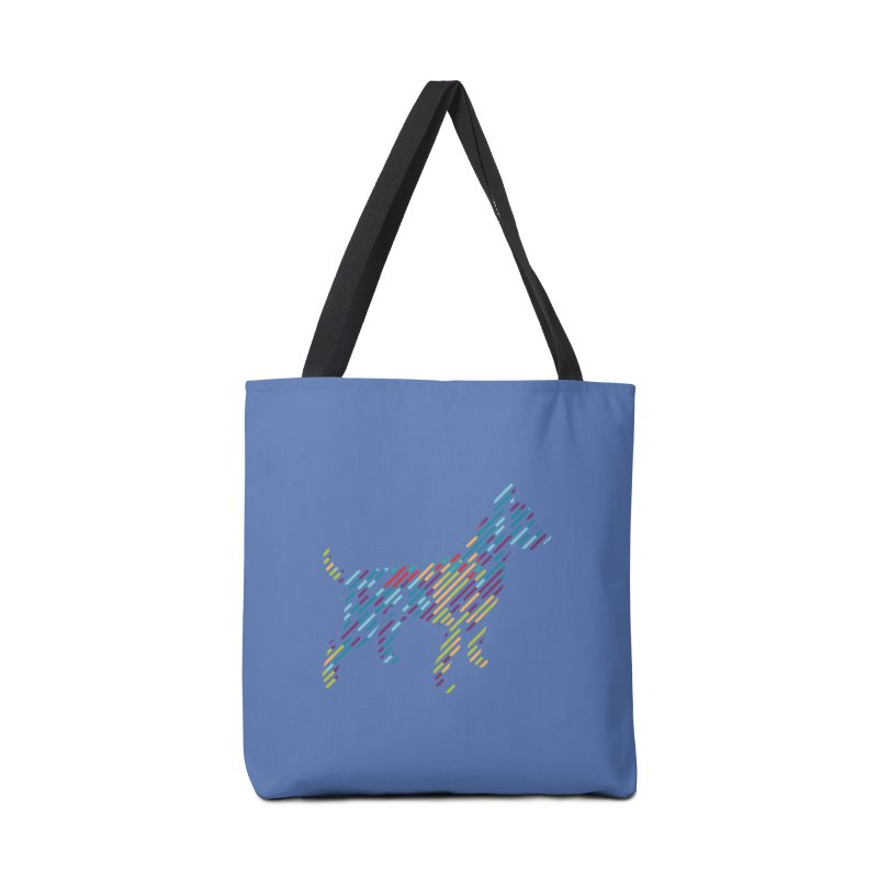 Stripe Dog Accessories Tote Bag Bag by Zebradog Apparel & Accessories