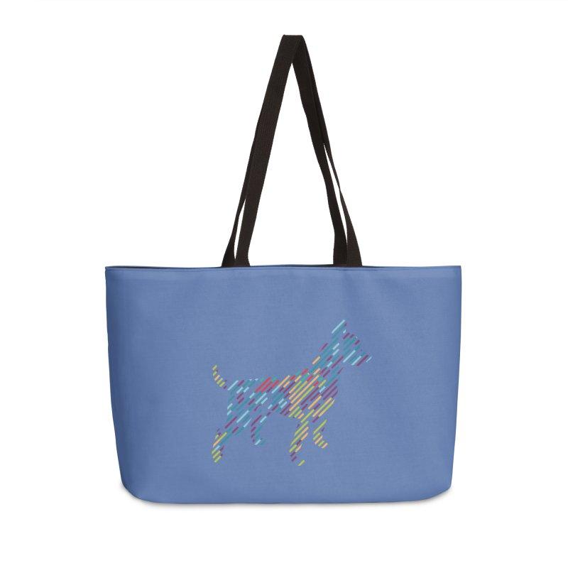 Stripe Dog Accessories Weekender Bag Bag by Zebradog Apparel & Accessories