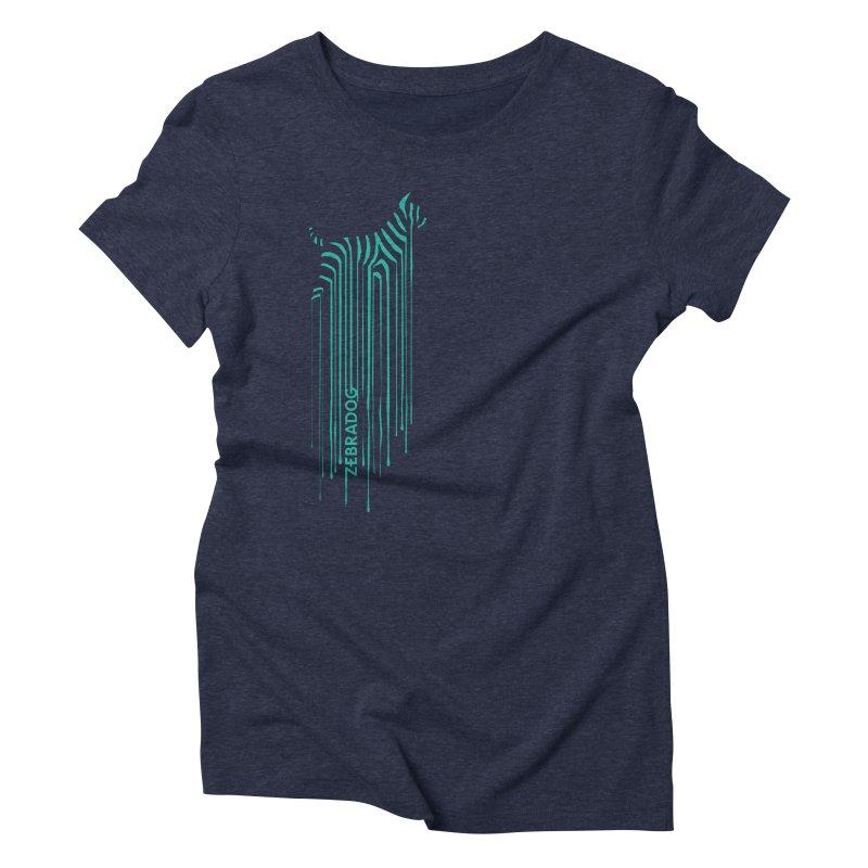 BlueDripDog Women's T-Shirt by Zebradog Apparel & Accessories