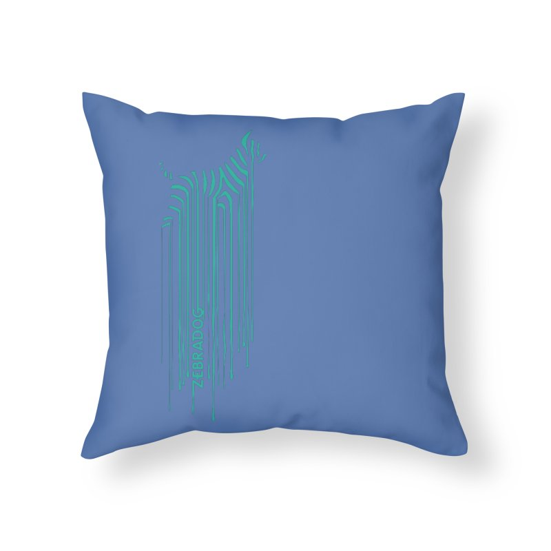 BlueDripDog Home Throw Pillow by Zebradog Apparel & Accessories