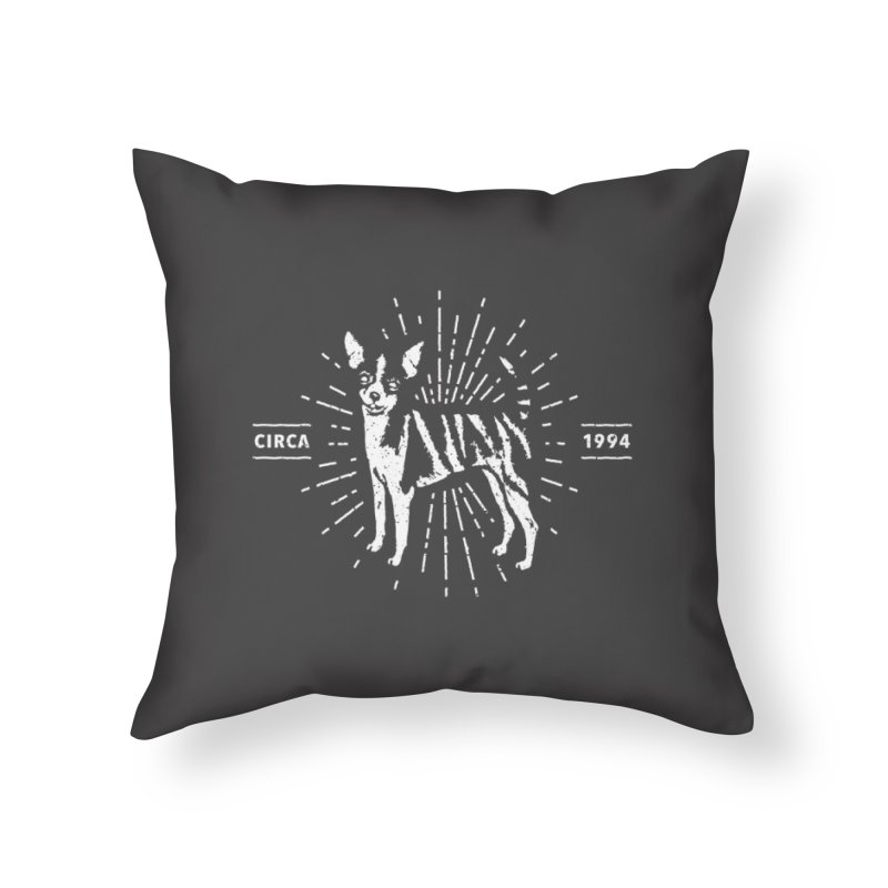Z as in Zebra, D as in Dog Home Throw Pillow by Zebradog Apparel & Accessories