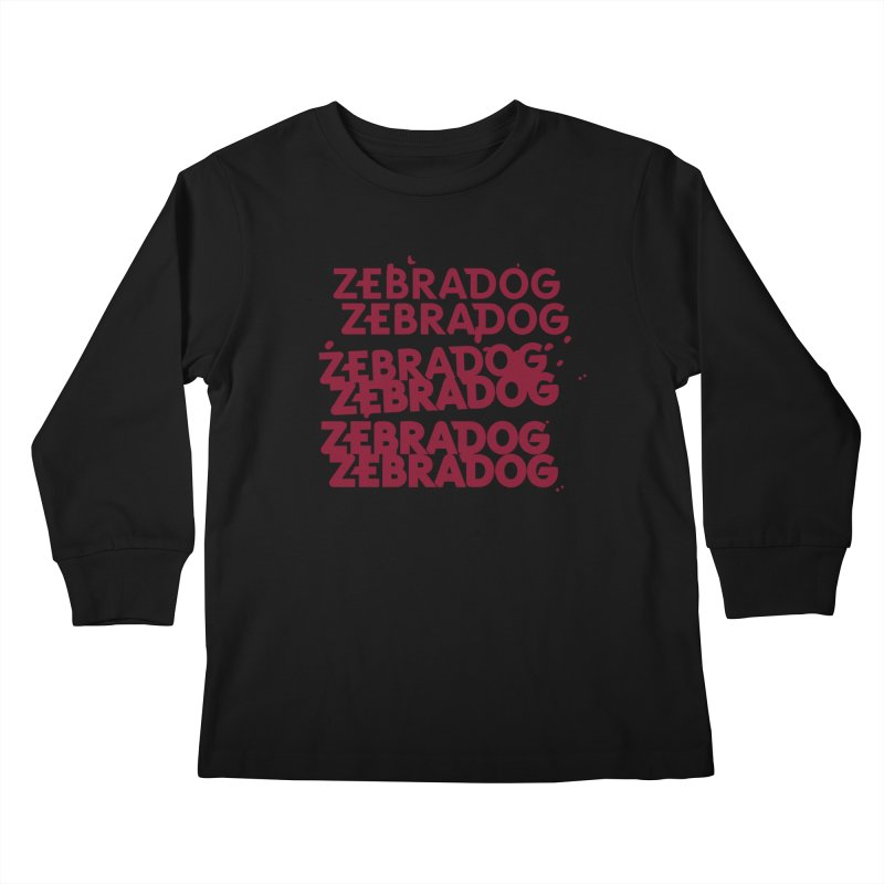 Cheap Dog Kids Longsleeve T-Shirt by Zebradog Apparel & Accessories
