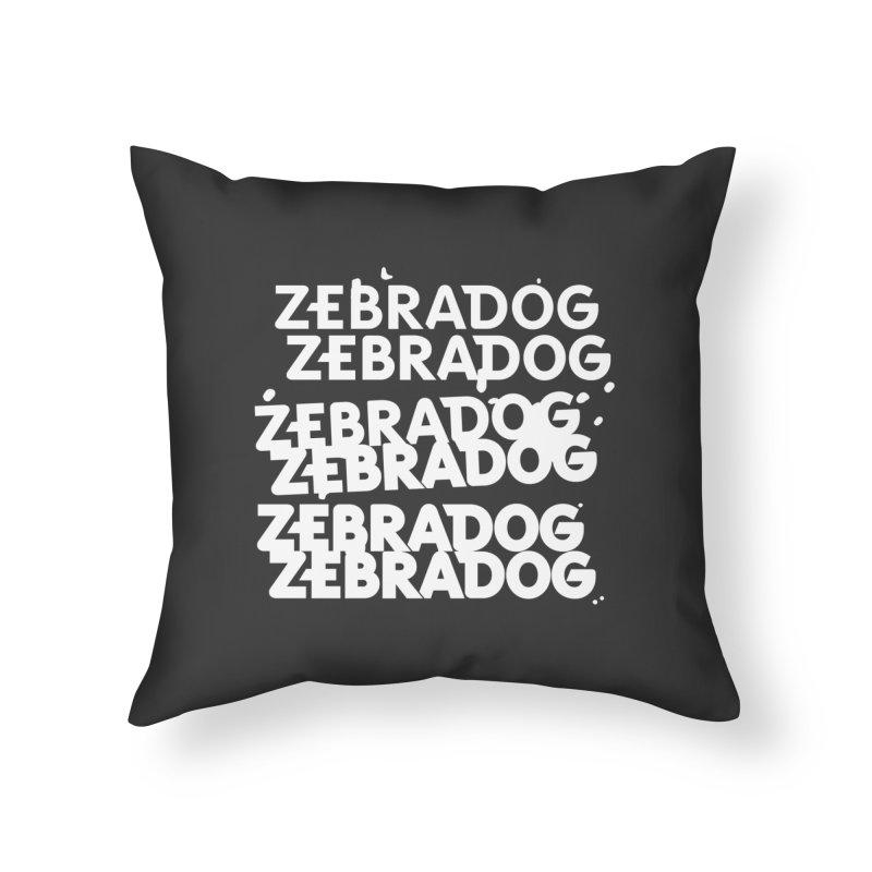 Cheap Dog - White Home Throw Pillow by Zebradog Apparel & Accessories