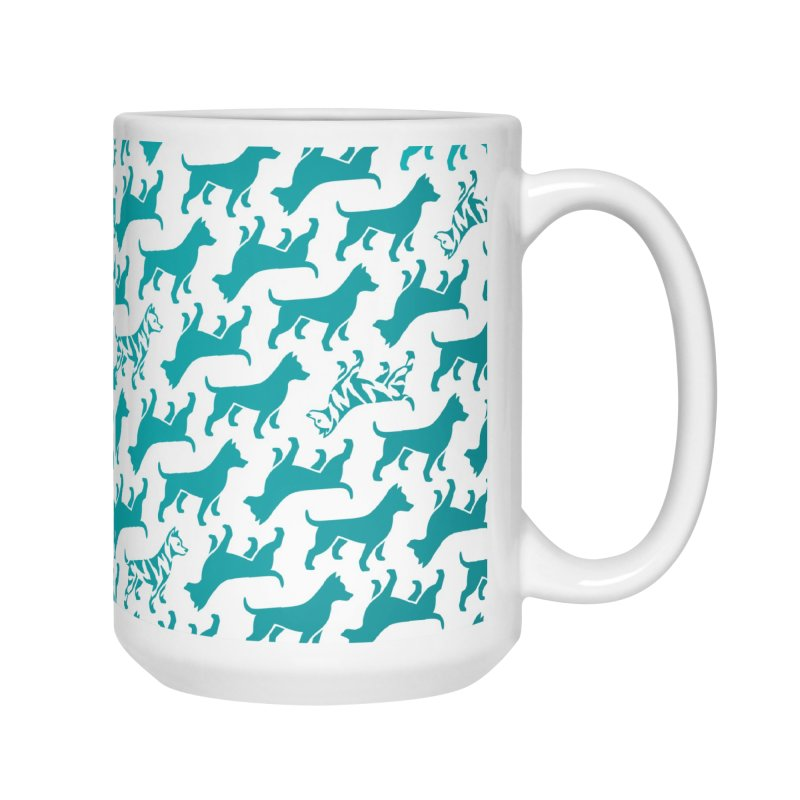 Dog Print (aqua) Accessories Mug by Zebradog Apparel & Accessories