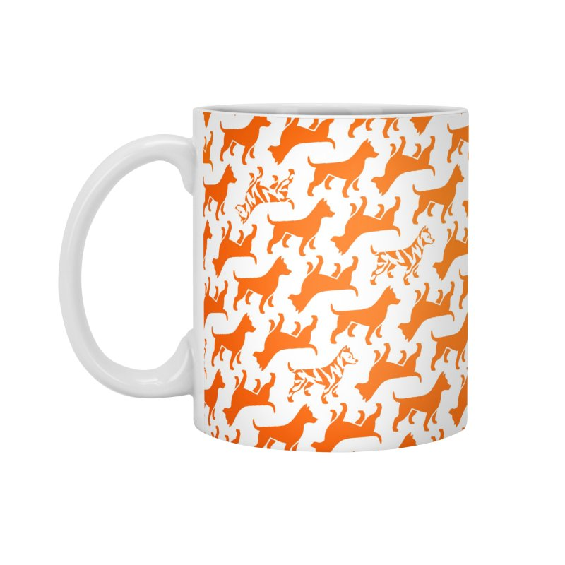 Dog Print (citrus) Accessories Mug by Zebradog Apparel & Accessories