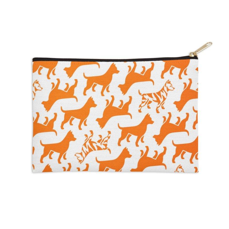Dog Print (citrus) Accessories Zip Pouch by Zebradog Apparel & Accessories