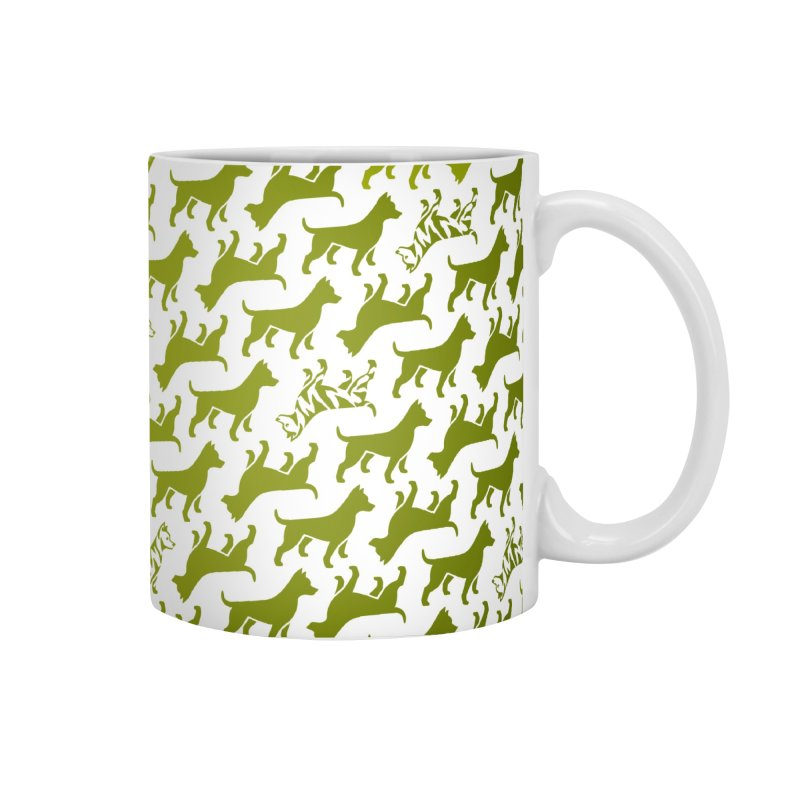 Dog Print (grass) Accessories Mug by Zebradog Apparel & Accessories