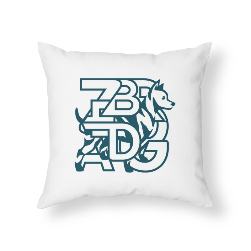 Mish Mash Home Throw Pillow by Zebradog Apparel & Accessories