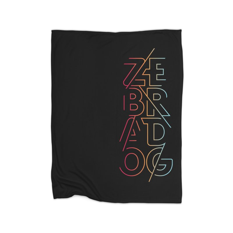 Neon '95 Home Blanket by Zebradog Apparel & Accessories