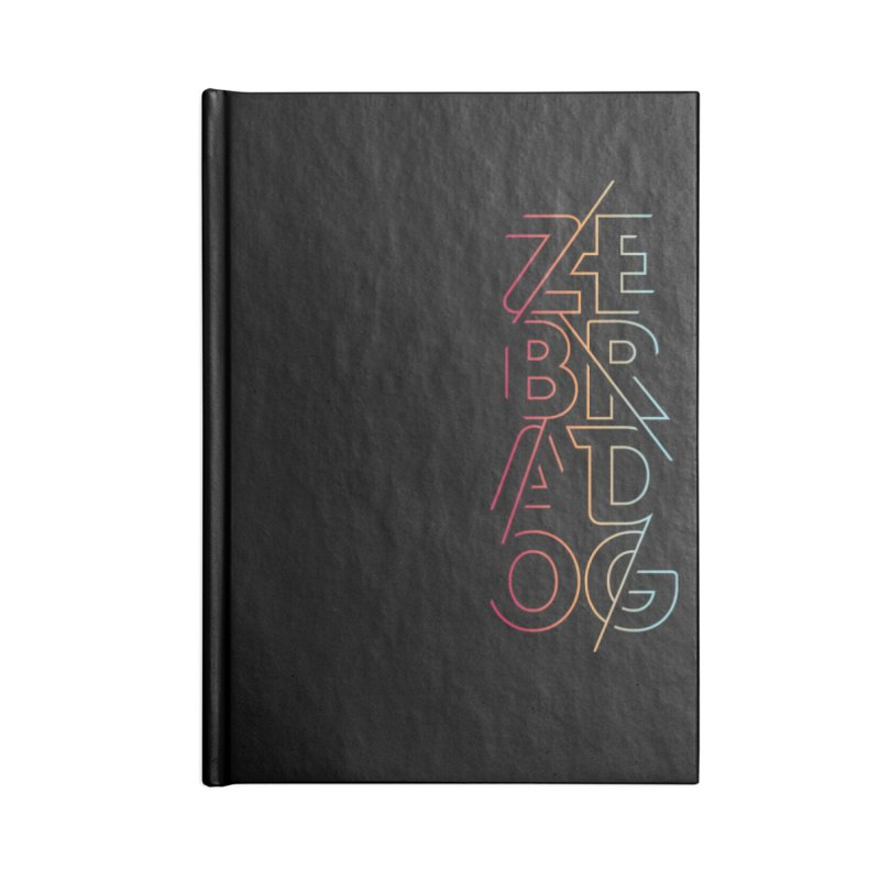 Neon '95 Accessories Lined Journal Notebook by Zebradog Apparel & Accessories