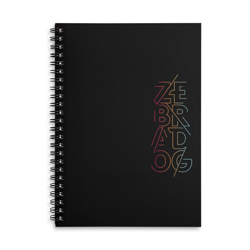 Neon '95 Accessories Lined Spiral Notebook by Zebradog Apparel & Accessories