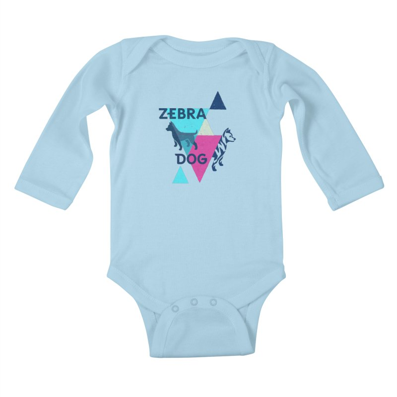 New Wave Kids Baby Longsleeve Bodysuit by Zebradog Apparel & Accessories