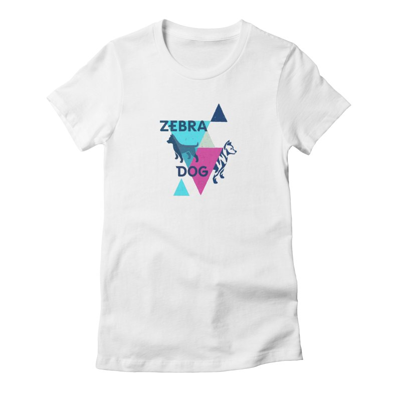 New Wave Women's Fitted T-Shirt by Zebradog Apparel & Accessories