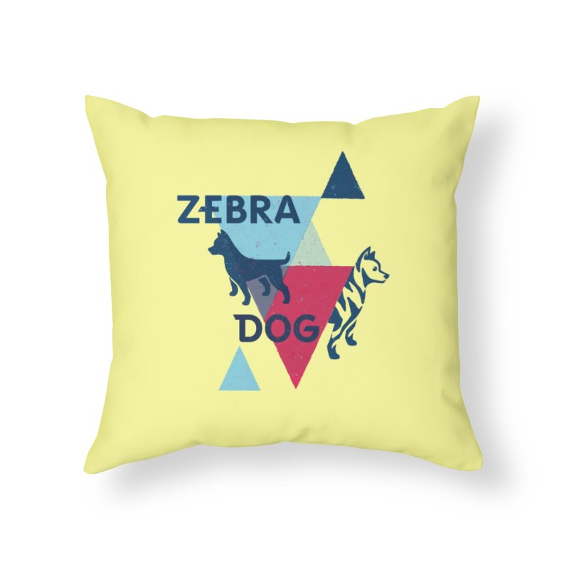New Wave Home Throw Pillow by Zebradog Apparel & Accessories