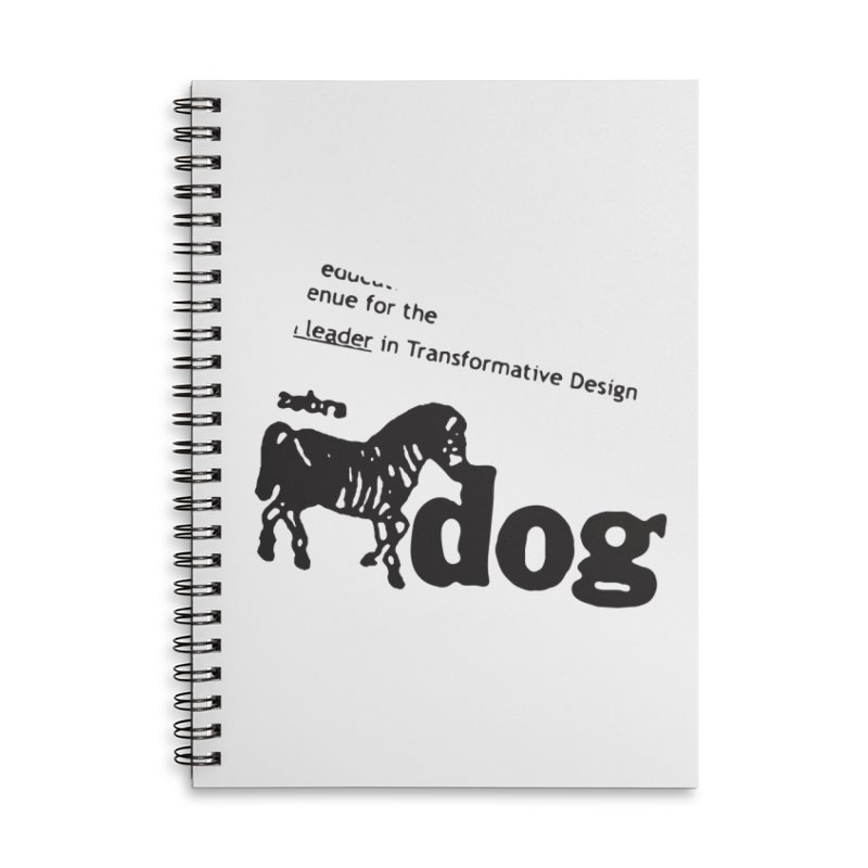 Z Dog Stamps Accessories Lined Spiral Notebook by Zebradog Apparel & Accessories