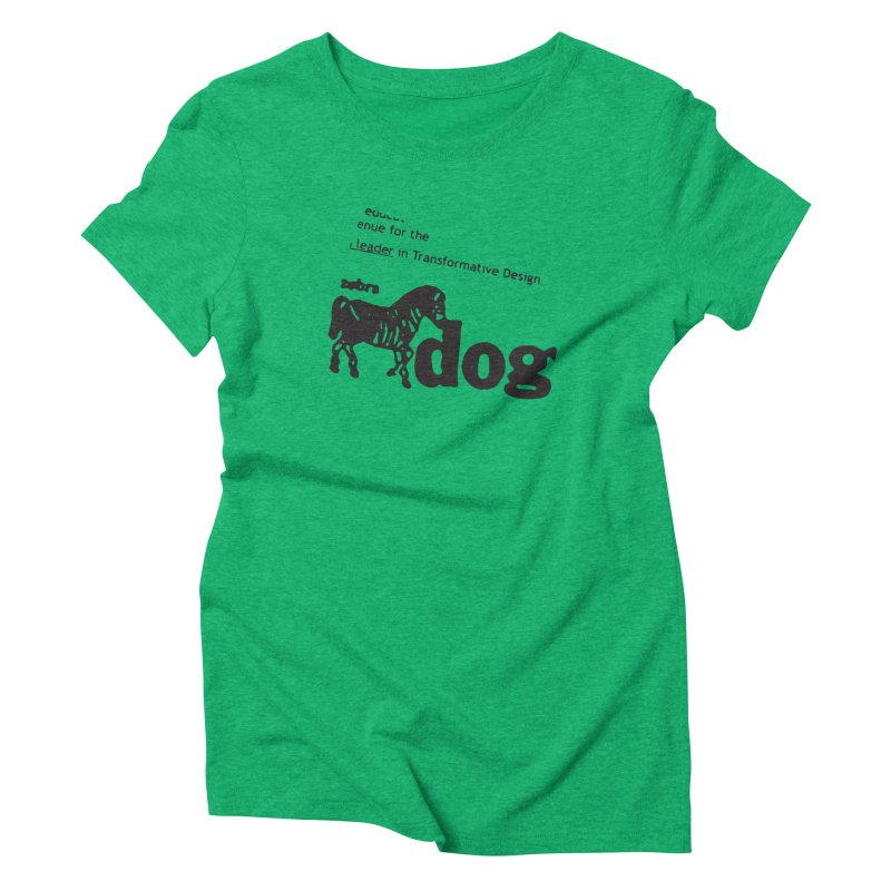 Z Dog Stamps Women's Triblend T-Shirt by Zebradog Apparel & Accessories