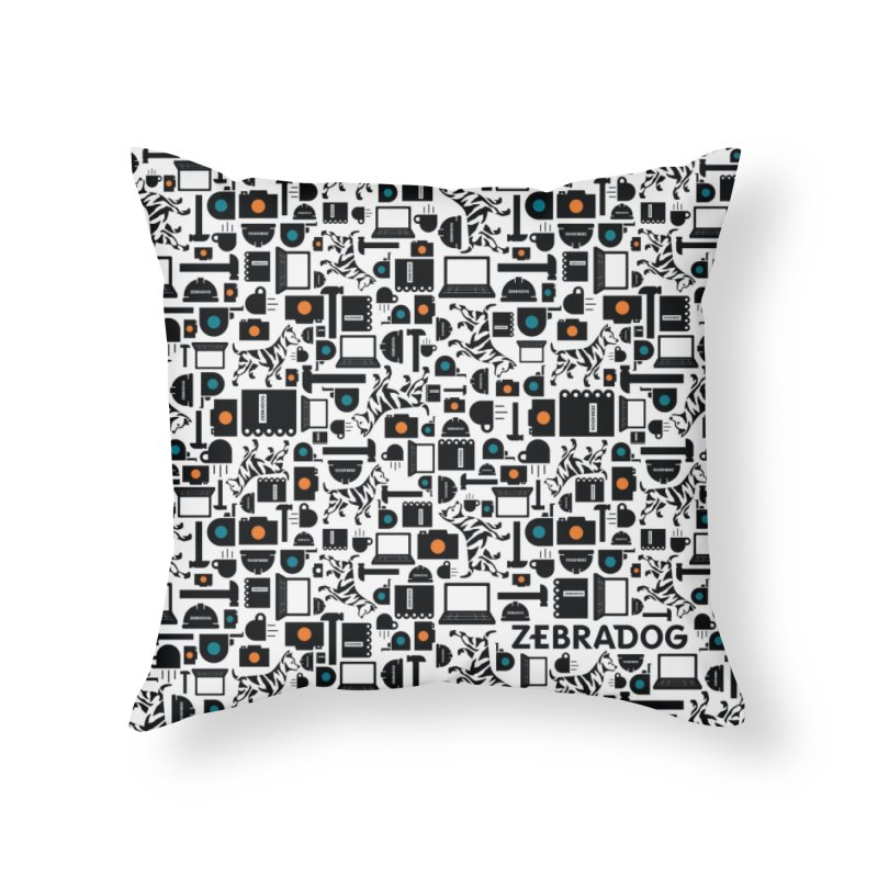 Tool Box Home Throw Pillow by Zebradog Apparel & Accessories