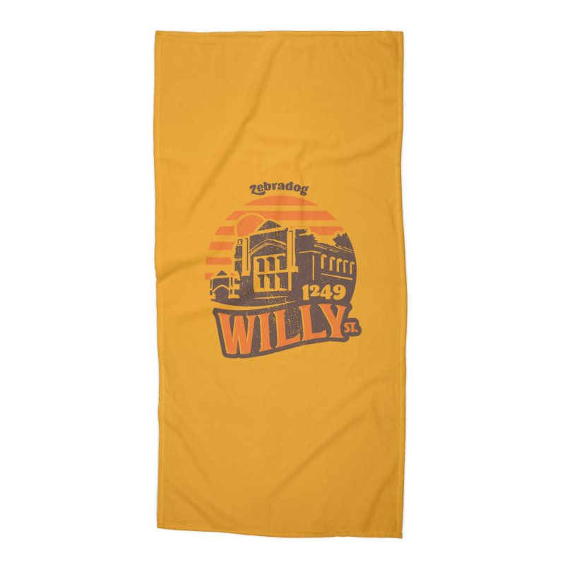 Vibe 1975 Accessories Beach Towel by Zebradog Apparel & Accessories