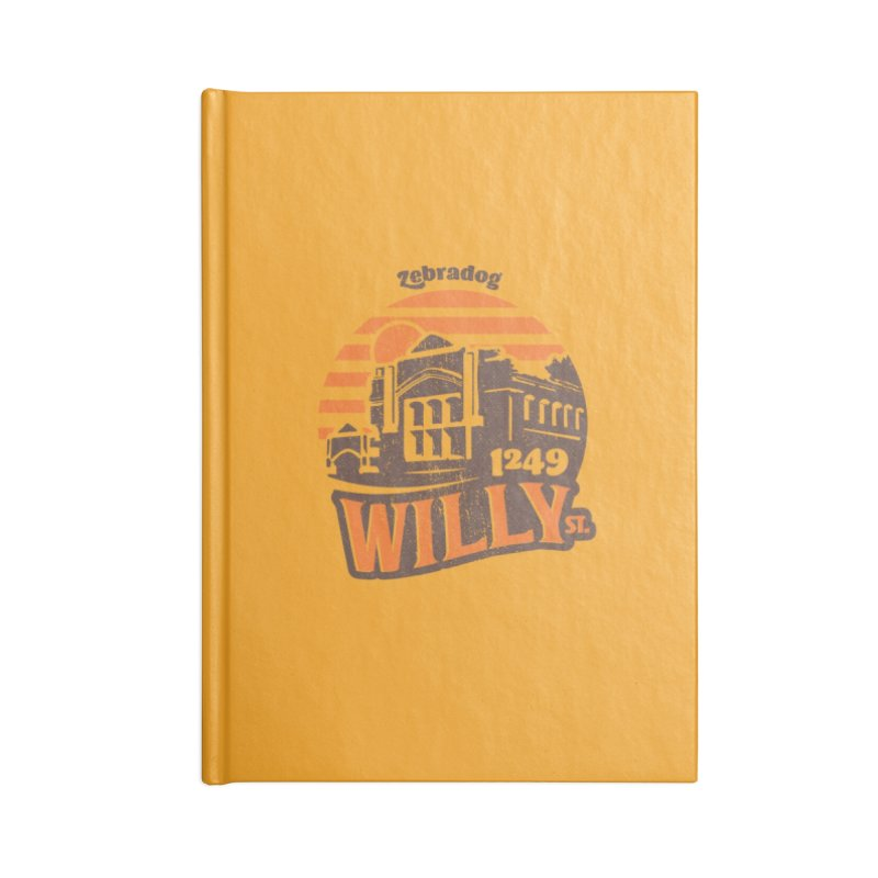 Vibe 1975 Accessories Lined Journal Notebook by Zebradog Apparel & Accessories