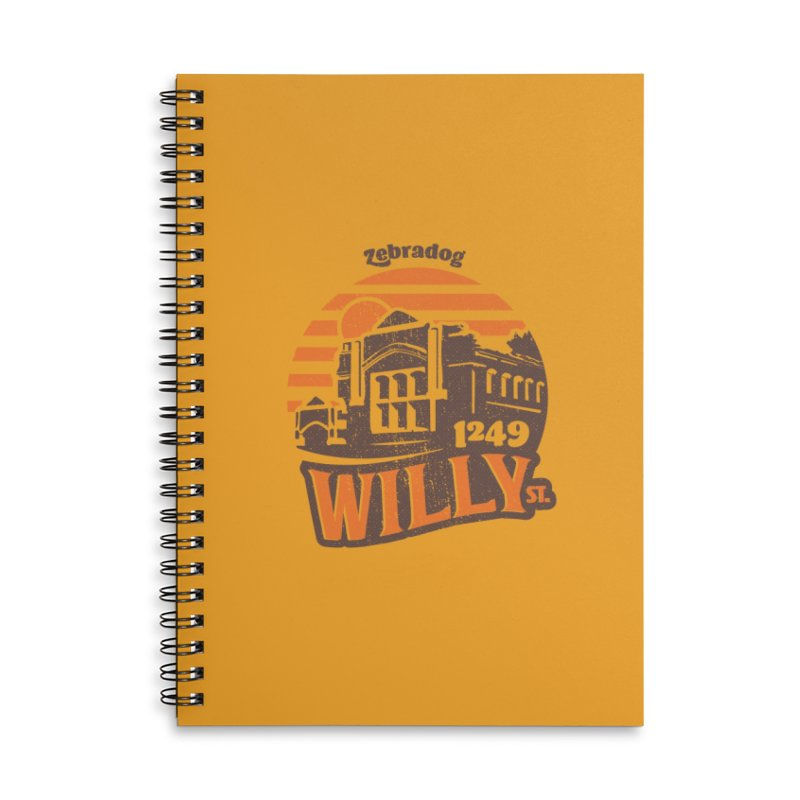 Vibe 1975 Accessories Lined Spiral Notebook by Zebradog Apparel & Accessories