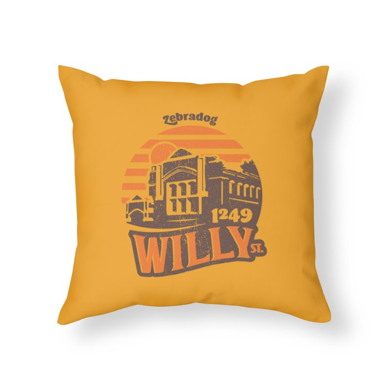 Vibe 1975 Home Throw Pillow by Zebradog Apparel & Accessories