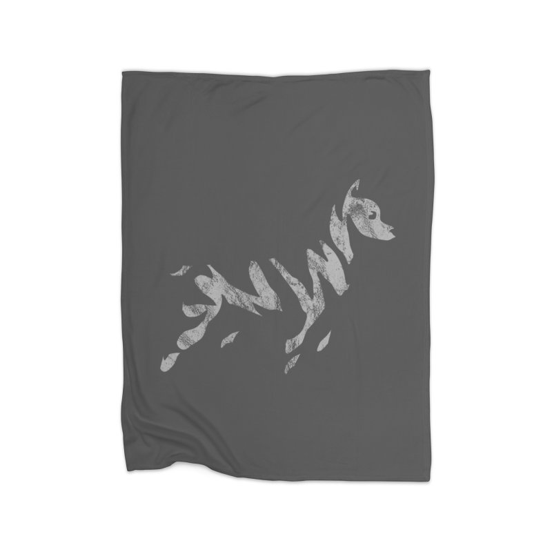 Ghost Dog Home Fleece Blanket Blanket by Zebradog Apparel & Accessories