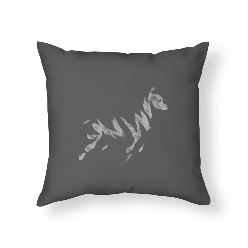 Ghost Dog Home Throw Pillow by Zebradog Apparel & Accessories