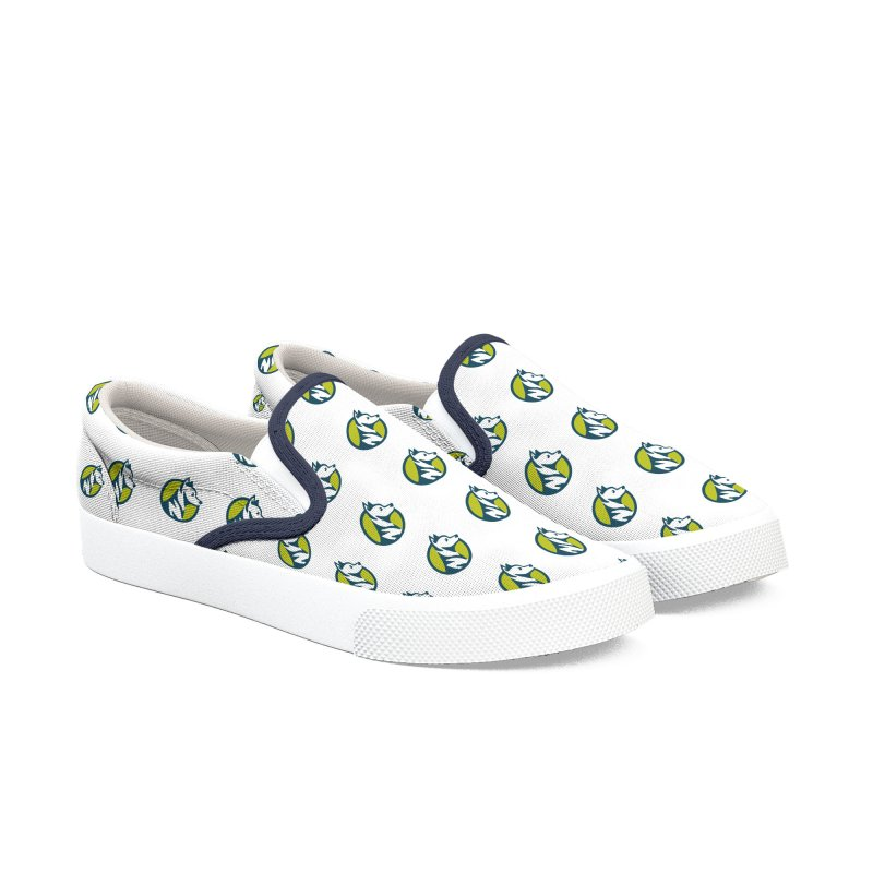 ZEBRADOG Button Icon Women's Slip-On Shoes by Zebradog Apparel & Accessories