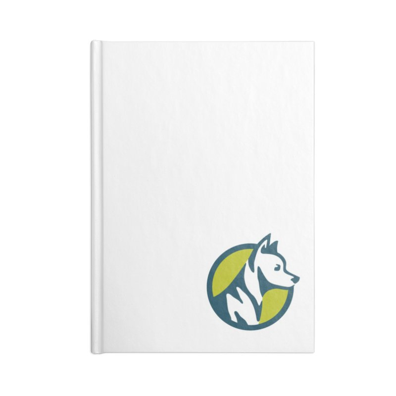 ZEBRADOG Button Icon Accessories Lined Journal Notebook by Zebradog Apparel & Accessories