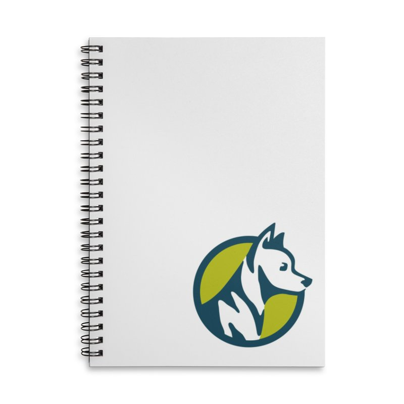 ZEBRADOG Button Icon Accessories Lined Spiral Notebook by Zebradog Apparel & Accessories