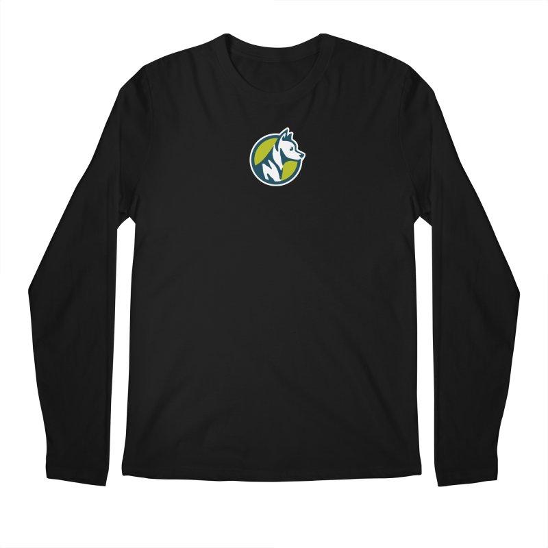 ZEBRADOG Button Icon Men's Longsleeve T-Shirt by Zebradog Apparel & Accessories