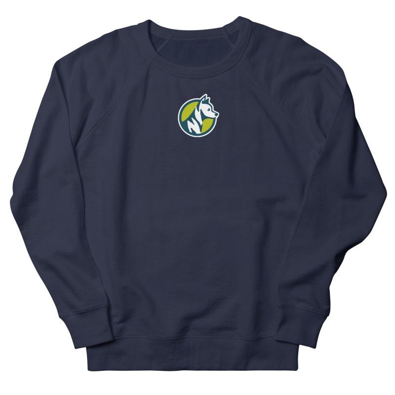 ZEBRADOG Button Icon Women's French Terry Sweatshirt by Zebradog Apparel & Accessories