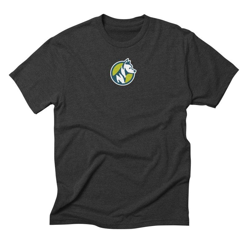 ZEBRADOG Button Icon Men's Triblend T-Shirt by Zebradog Apparel & Accessories