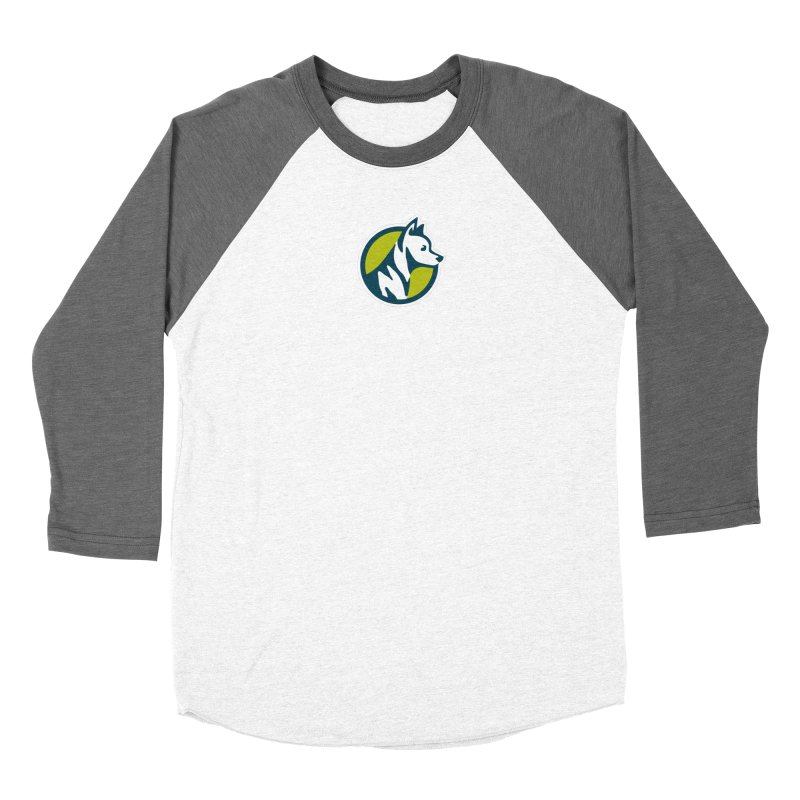 ZEBRADOG Button Icon Women's Baseball Triblend Longsleeve T-Shirt by Zebradog Apparel & Accessories