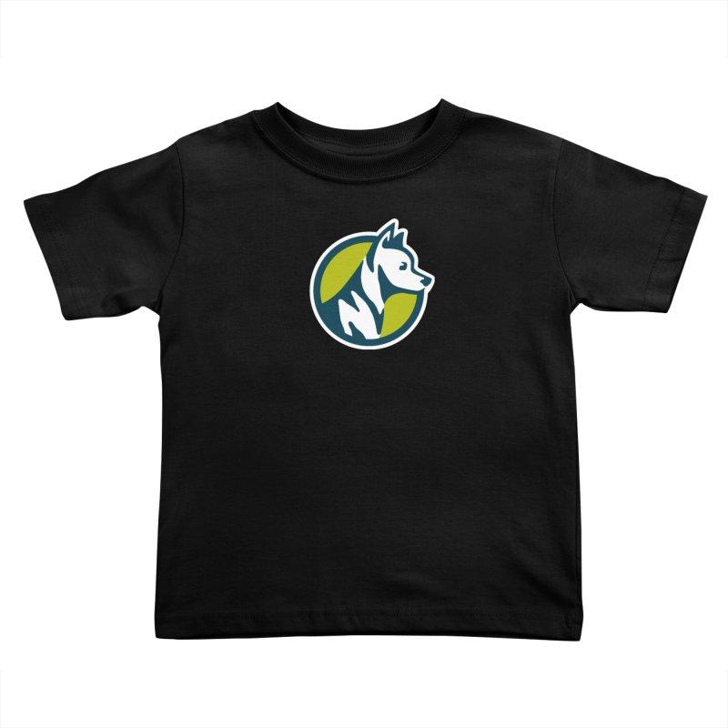 ZEBRADOG Button Icon Kids Toddler T-Shirt by Zebradog Apparel & Accessories