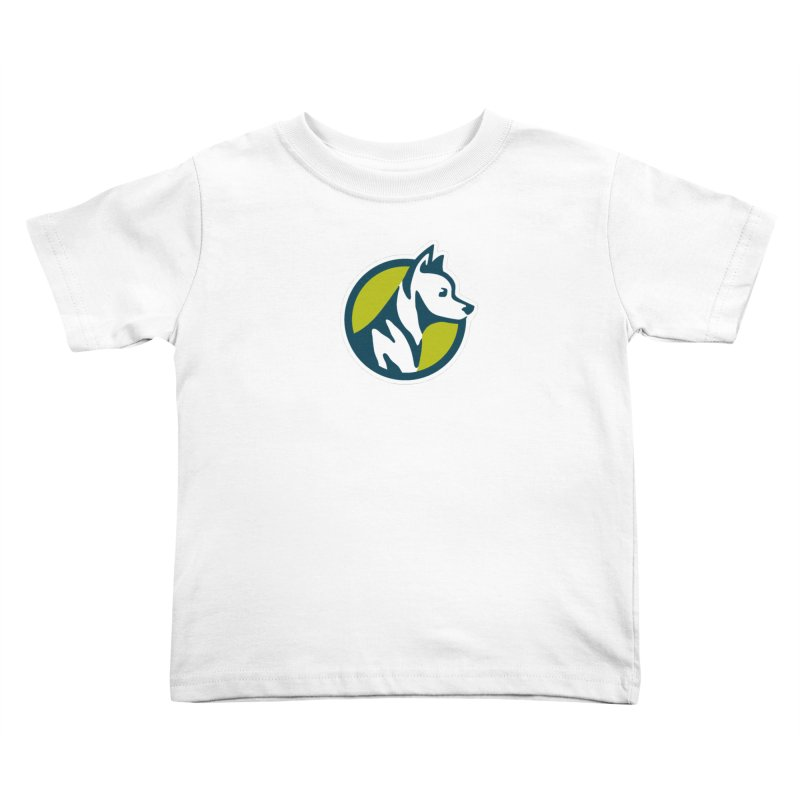 ZEBRADOG Button Icon Kids Toddler T-Shirt by Zebradog Apparel & Accessories